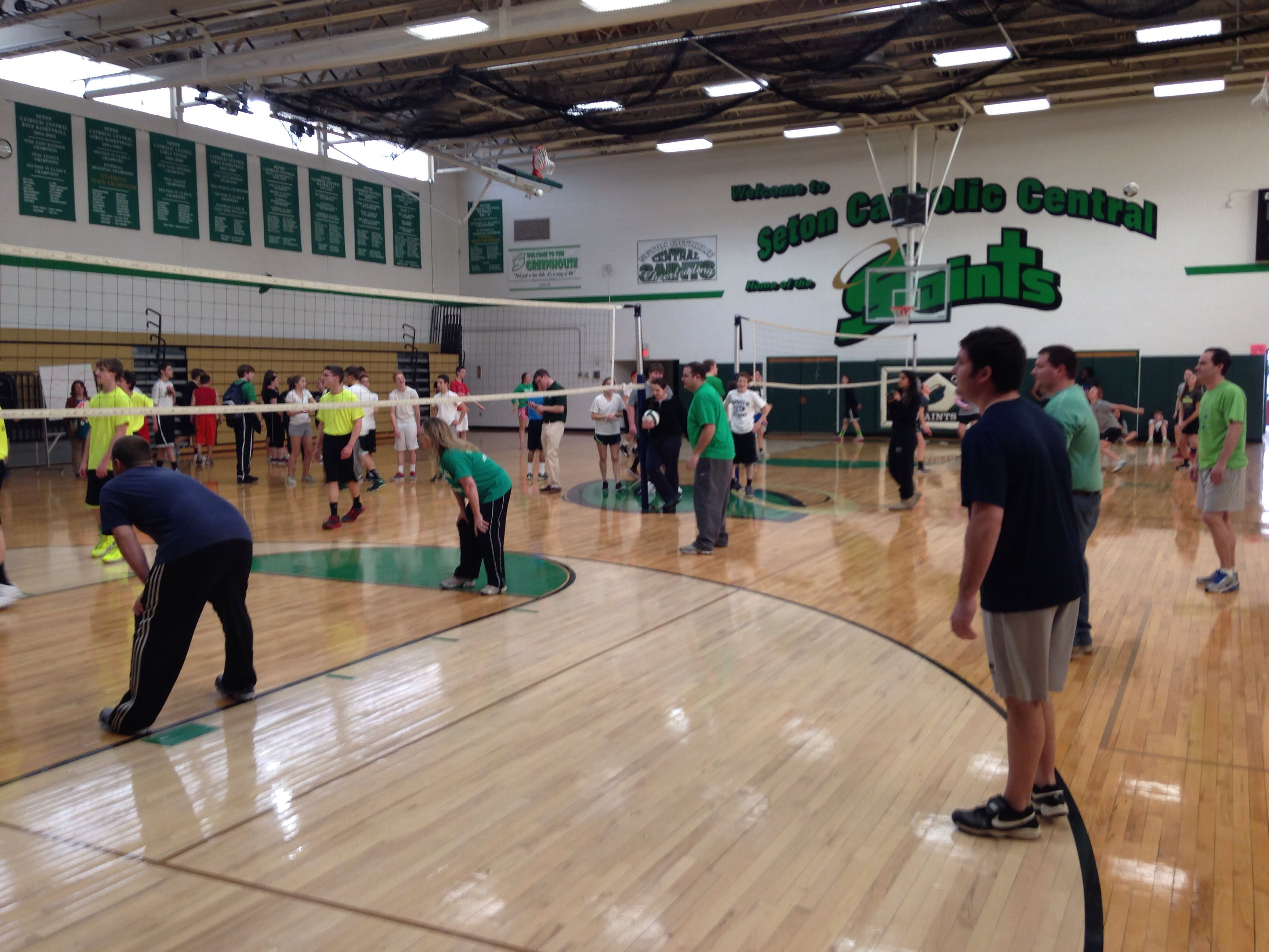 Staff vs students volleyball tournament Part of SCC s Catholic