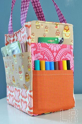 Art Caddy Tote Bag with pockets for all your craft things | Bag ...