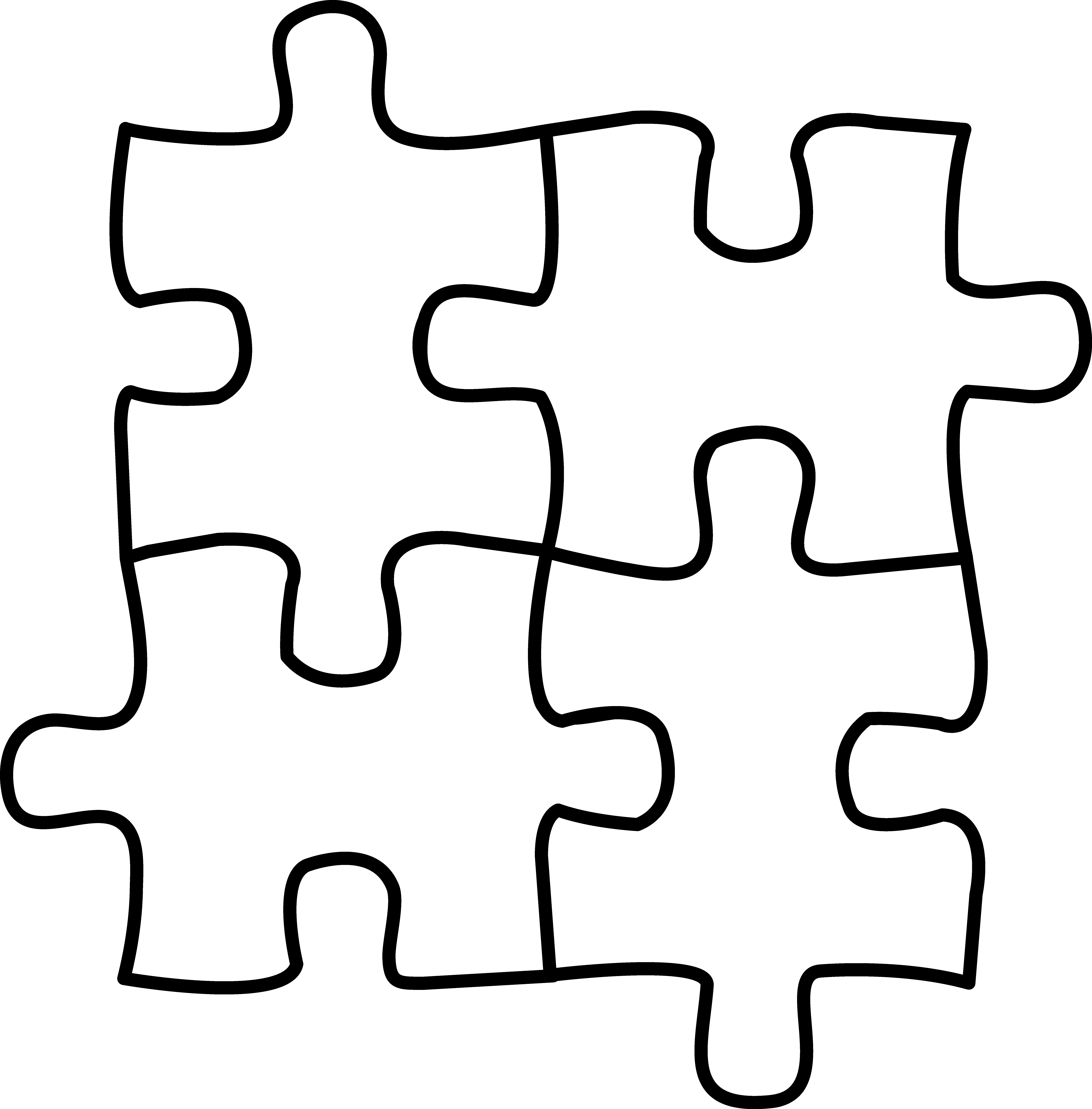 10 Pics Of Puzzle Piece Coloring Pages Of Letters Autism Puzzle