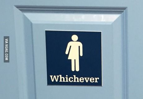 Bathroom Signs Gym this restroom sign is a casual approach to gender neutrality