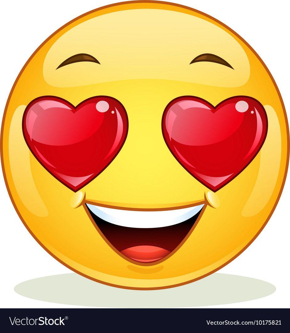 In love emoticon vector image on | Desenho de emoji ...