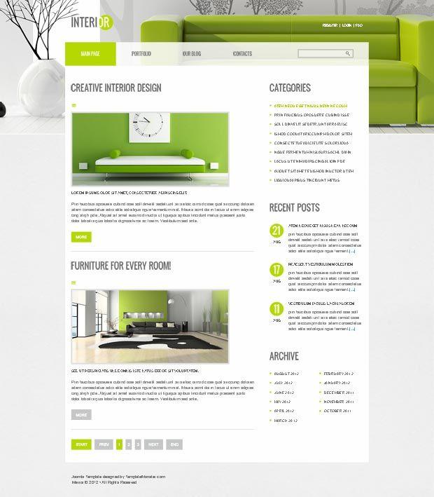 Perfect Decor for Interior Site ( Free PSD ) | Joomla Templates ...