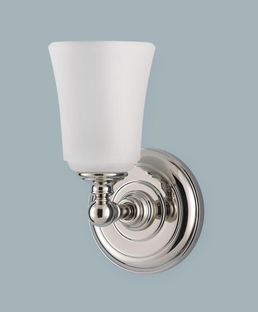 Murray Feiss VSPN One Light Nickel Bathroom Sconce - Polished nickel bathroom sconces