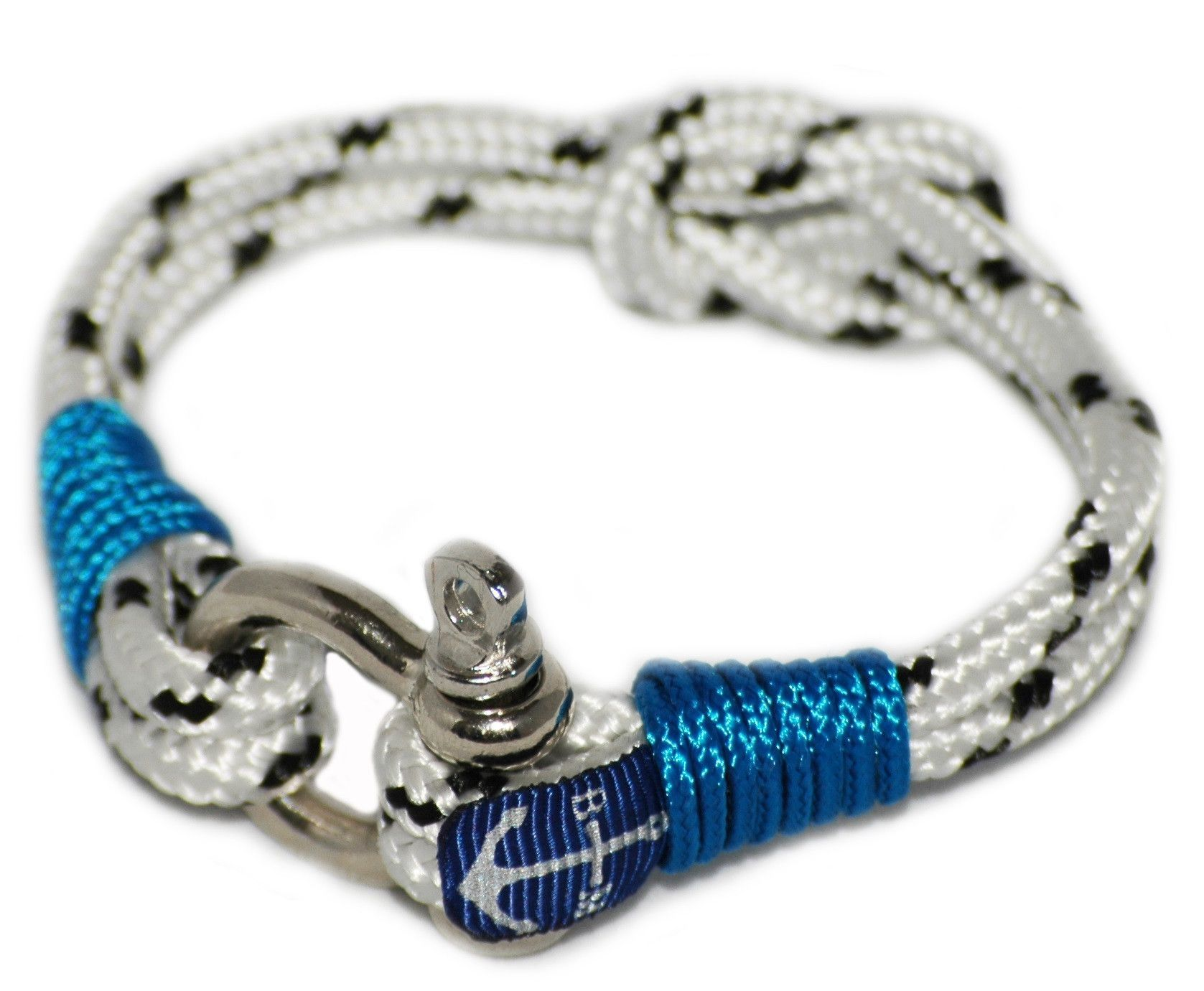 White and Blue Nautical Bracelet by Bran Marion