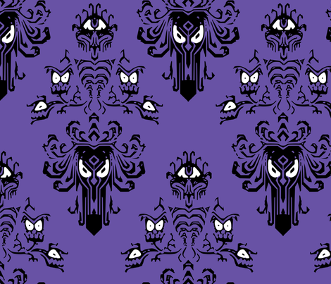 Haunted Mansion Wallpaper fabric by mellymellow on