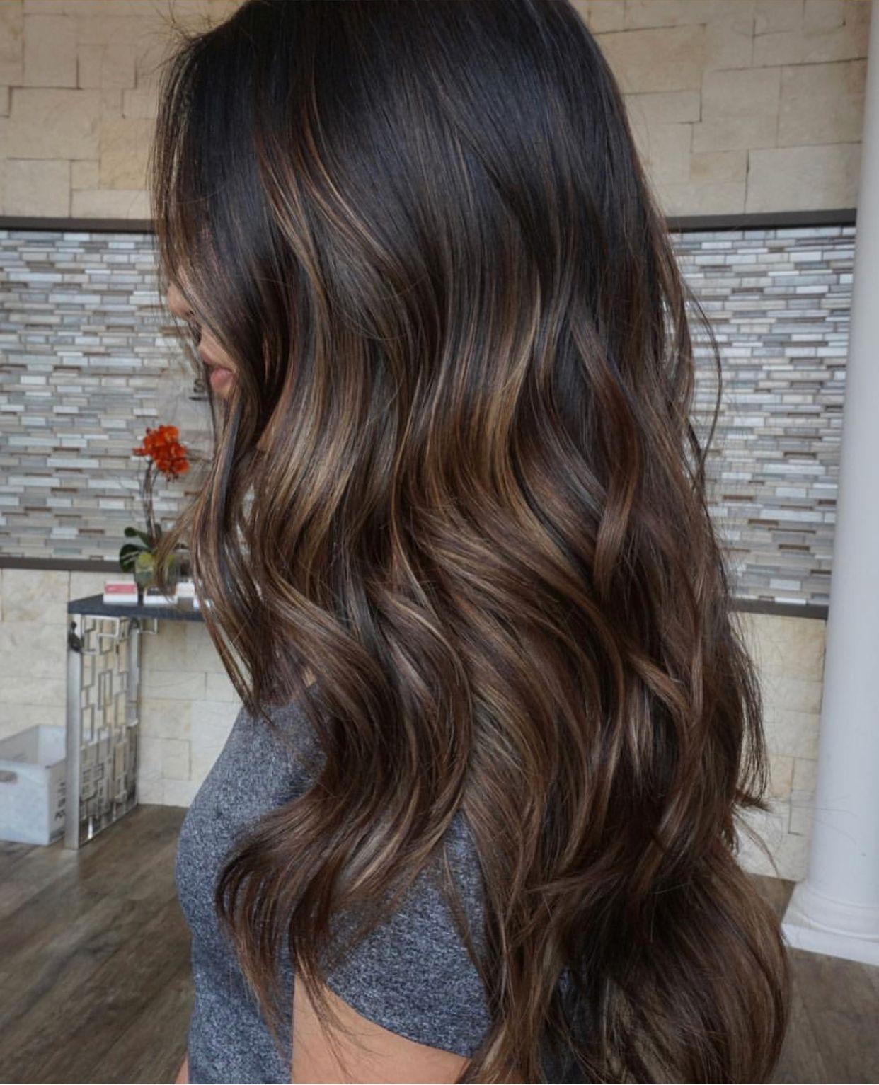 Different Shades Same Subtle Highlights Brown Hair Balayage Hair Styles Balayage Hair