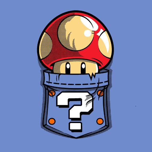 Pocket Power T-Shirt $12.99 Super Mario Bros tee at Pop Up Tee!