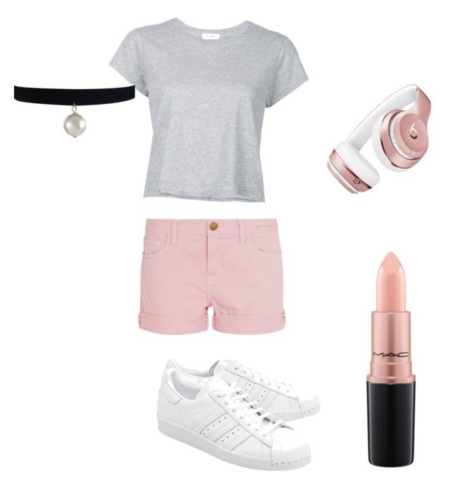 """Untitled #16"" by kernacskinga on Polyvore featuring RE/DONE, Current/Elliott, adidas Originals, Beats by Dr. Dre and MAC Cosmetics"
