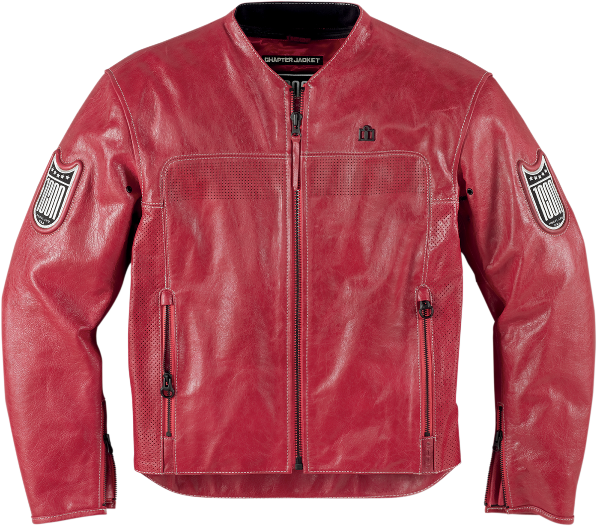 Icon 1000 Chapter Jacket Harmonic Red Products Ride