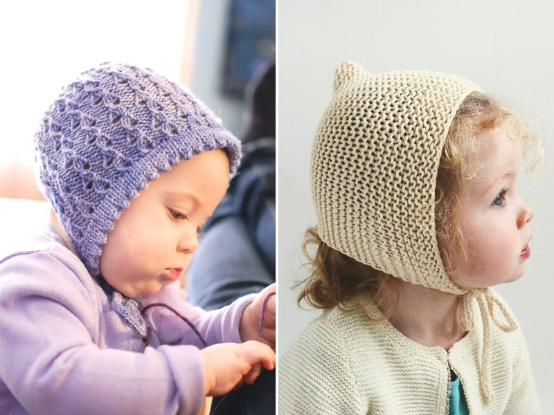Easy Knitted Bonnets | Baby knitting, Easy knitting ...