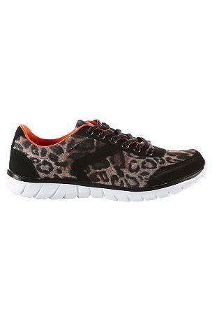 Ellos Shoes Tennarit Leopardikuvio, Musta - Naiset - Streetkengät | Ellos Mobile