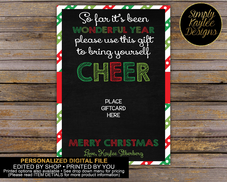 Christmas teacher appreciation gift card holder by