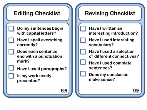 001 Image result for writing checklist for primary school
