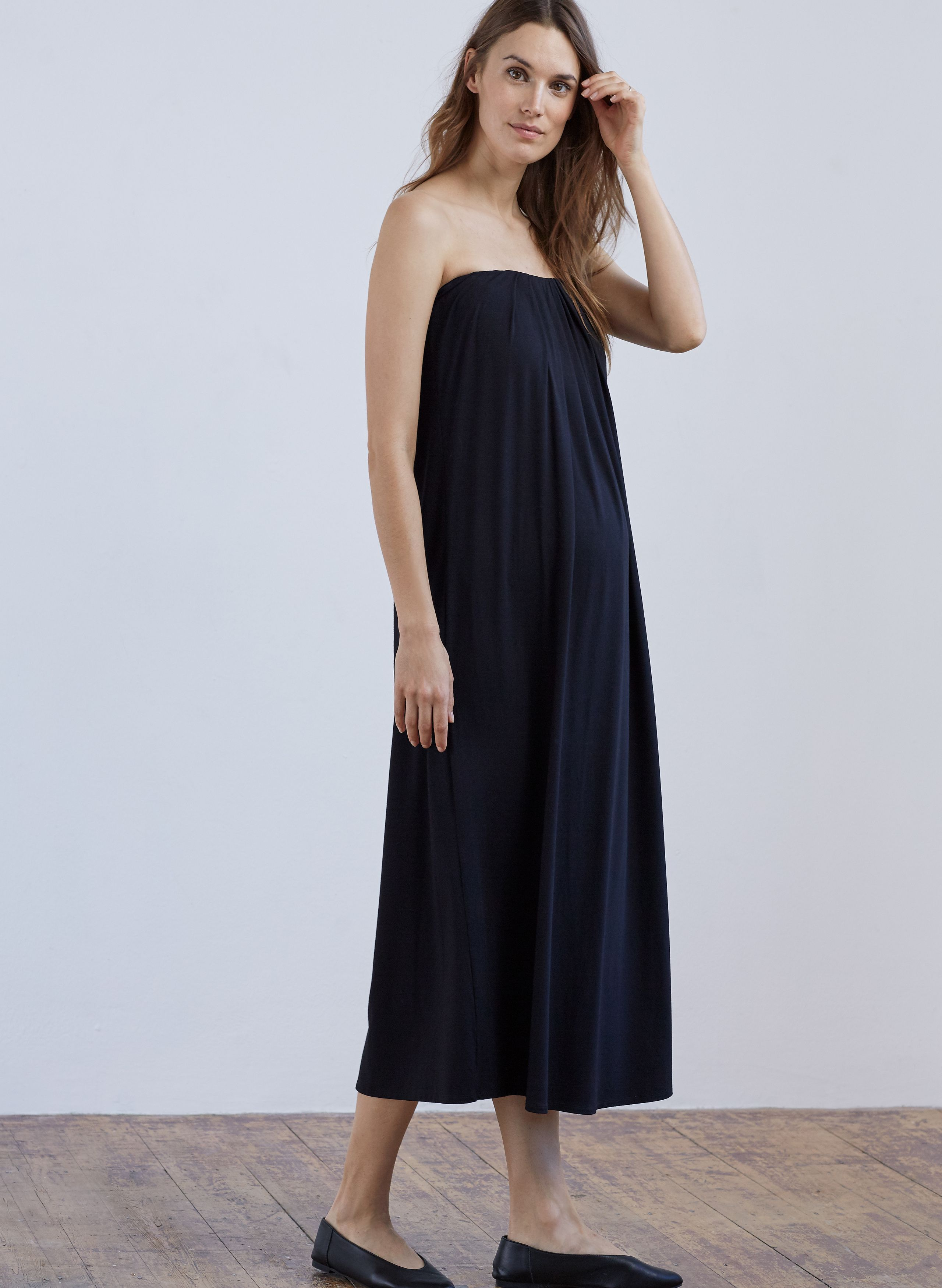 a03c6d4c43d This strapless silhouette will fit and flatter you during all 9 months and  beyond. This is a real throw-on-and-go piece that we guarantee you ll be  wearing ...