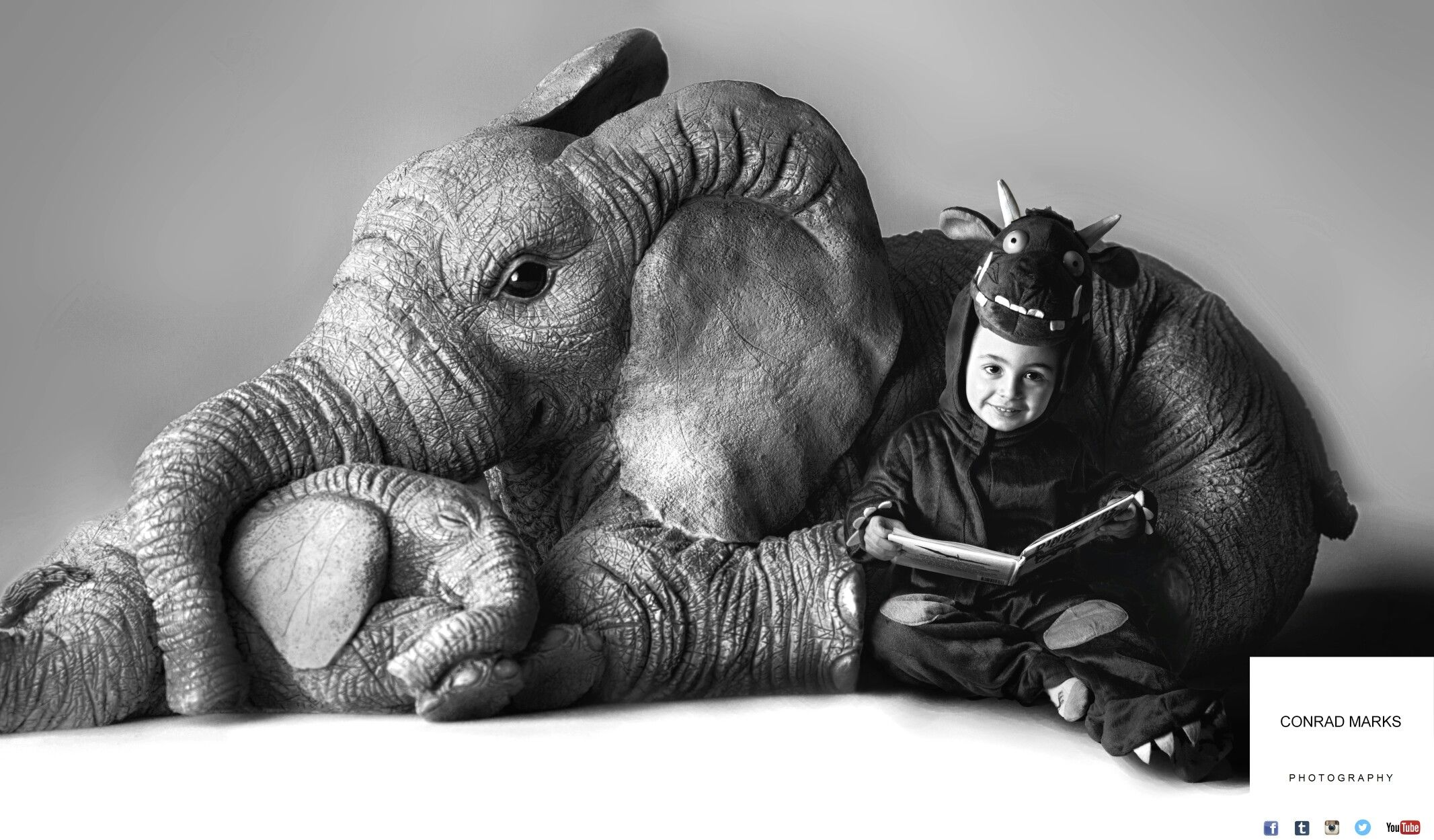 The Elephant is an orniment and would fit in the palm of your hand.