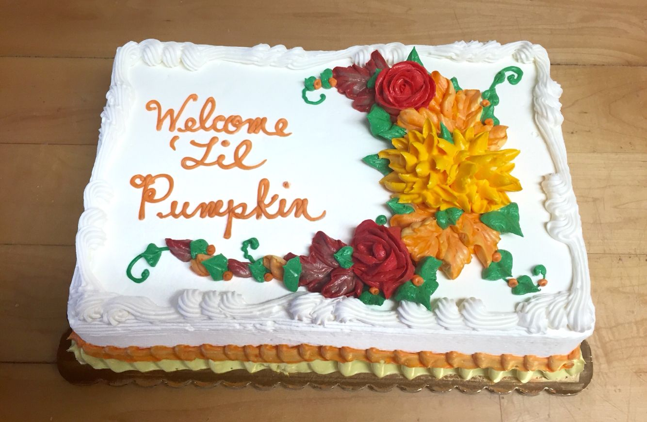 Fall Themed Baby Shower Sheet Cake Mueller S Bakery With