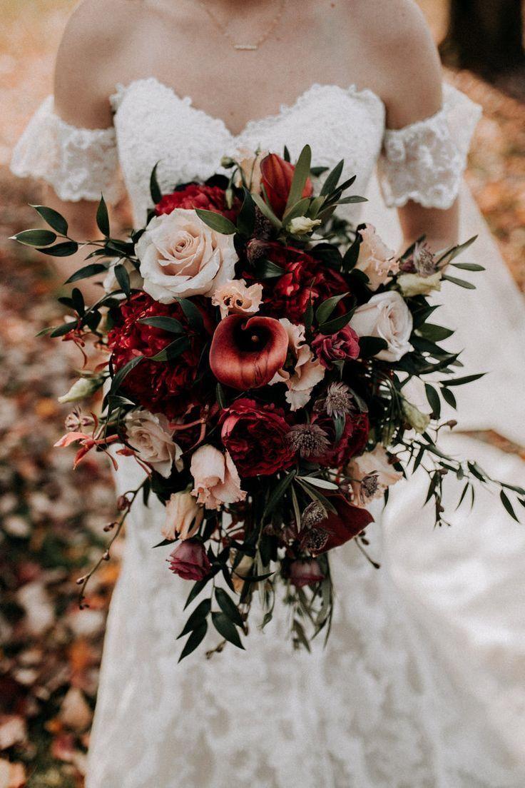 bouquet de noiva outonal de casamento rústico vermelho, pink.jpg #rusticwedding #realwedd  #b… - Site Today #brautblume