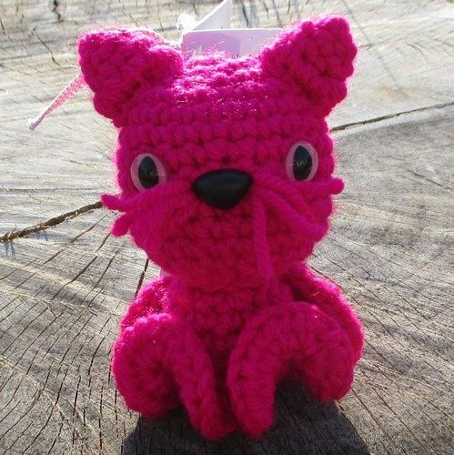 Kitty Inkie Bright Pink  Kitty Inkie Didn't I say it was a very long road trip! Next up a Kitty Inkie. The ears were easy. The tail took a few tries to get the sizing where I wanted it. I was feeling