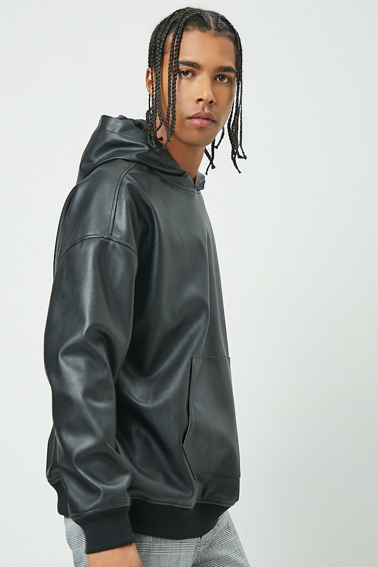 Oversized Faux Leather Pullover Hoodie Forever 21 Fashion Tips For Women Pullover Hoodie Hoodie Forever 21 [ 1125 x 750 Pixel ]