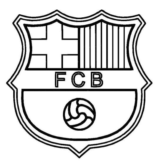 barcelona logo soccer coloring pages - Football Colouring Sheet