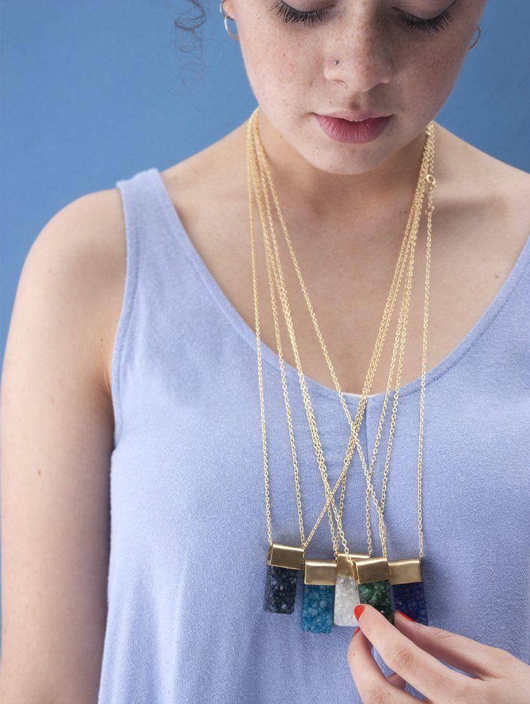 Big Druzy Necklaces #category:Necklaces #colour:blue #colour:green