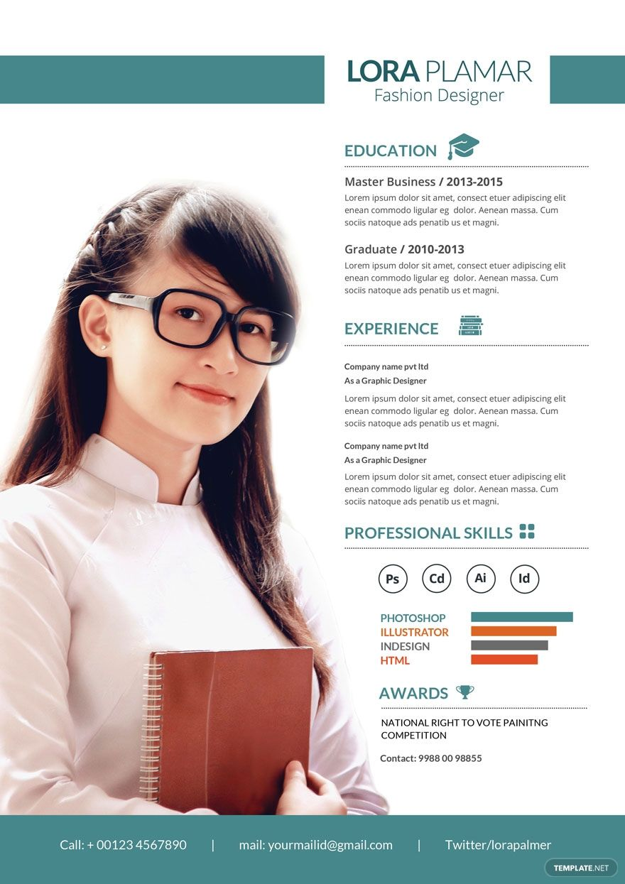 Free Cv Template For Fashion Designer In 2020 Fashion Designer Resume Fashion Design Template Cv Template Free