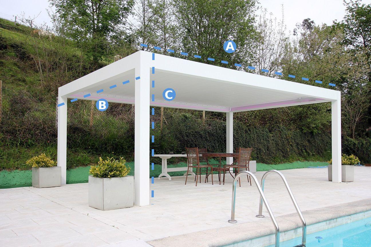 Pergolas De Aluminio Para Jardin Stunning Coberti Toldo Horizontal - Pergolas-metalicas-para-jardin