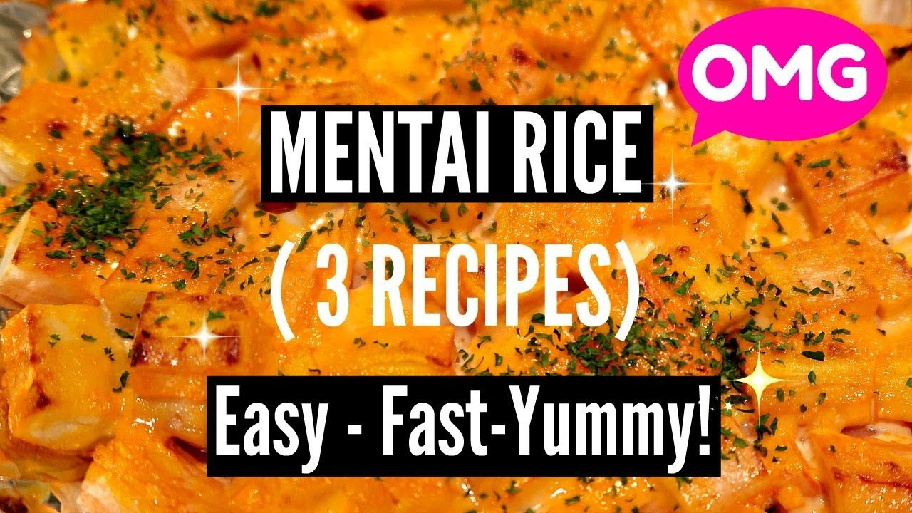 Must Try Easy Mentai Rice Recipes Salmon Mentai Rice With Oven Sal Salmon Recipes Rice Recipes Oven Salmon