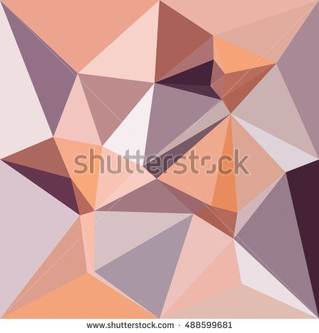 Low polygon style illustration of almond beige abstract