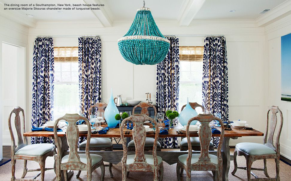 Elegant Dining Room In The South Hamptons Beach House Decor Via 1stdibs Dazzling  Design
