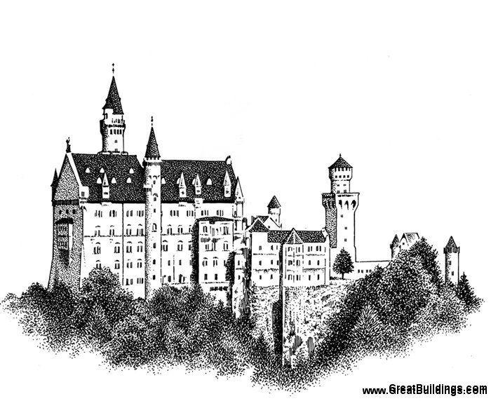 достопримечательности германии черно белые картинки отдал