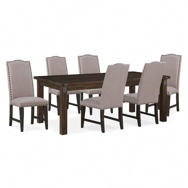 dining room furniture hampton dining table and 6 upholstered side rh pinterest com