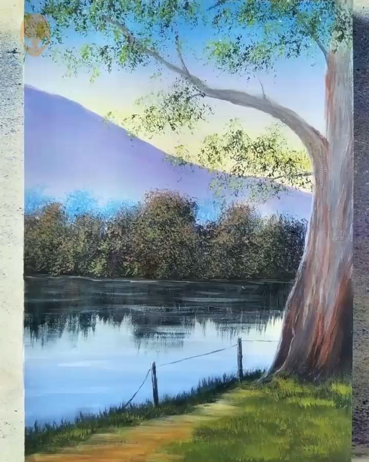 20 Pretty Landscape Painting Ideas Painting Tutorials Videos Part 8 Artsupplies Arttutorial Pretty Landscapes Landscape Paintings Painting Tutorial