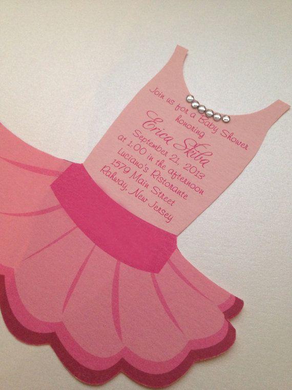 Tutu Baby shower invitation Ballerina baby shower by anaderoux ...