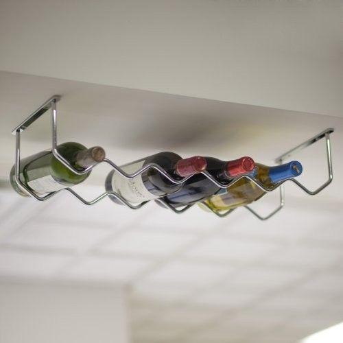 Oenophilia Under Cabinet Chrome 6-Bottle Wine Rack - contemporary ...