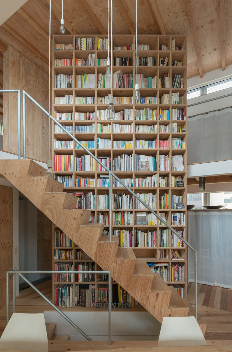 extra tall library book shelves and modern