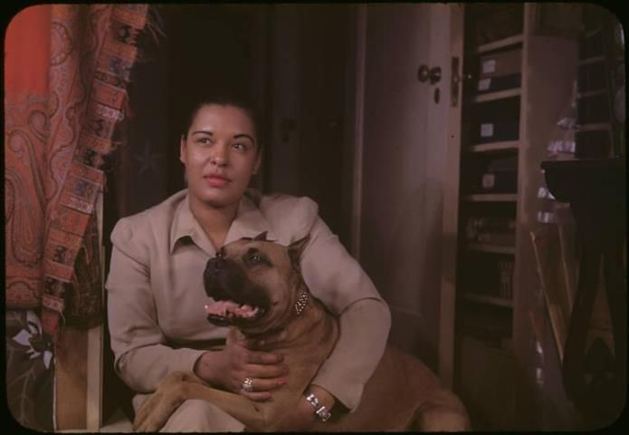 Mister and his owner - Billie Holiday