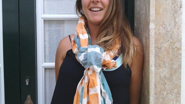 Hand painted Marina' s scarves