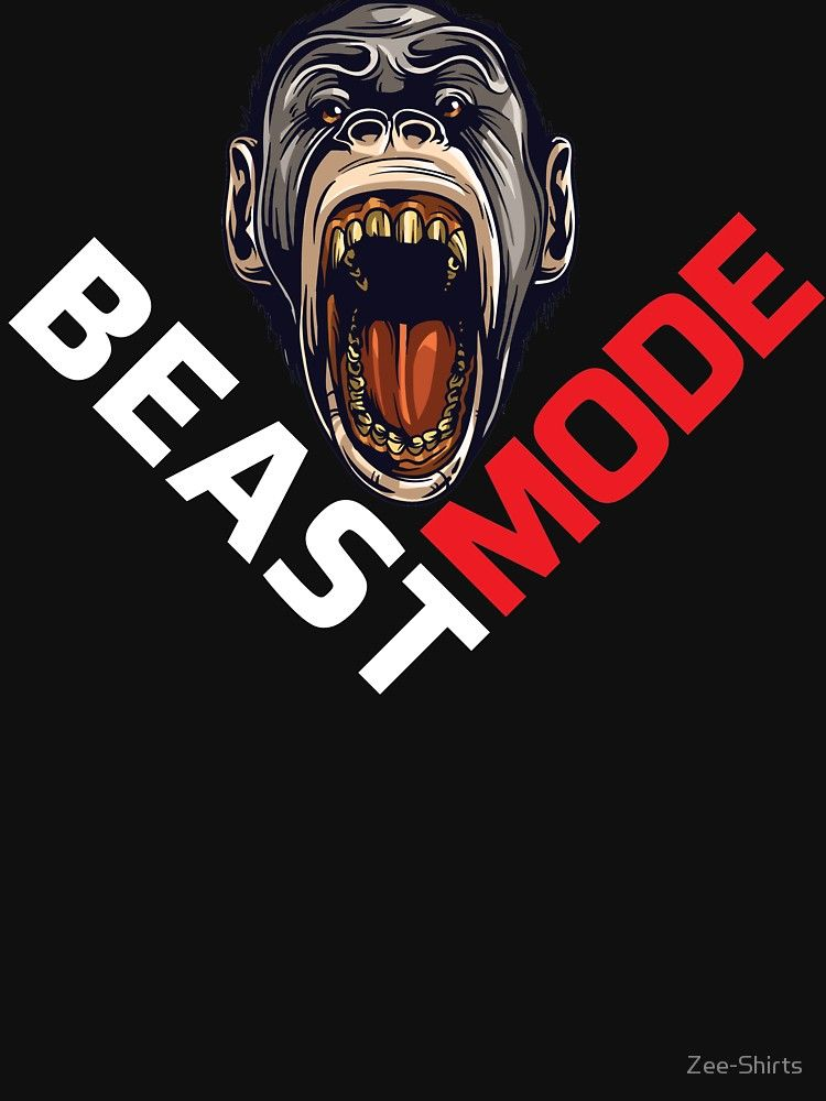 Beast Mode Ape Gym Workout Fitted T Shirt By Zee Shirts In 2021 Beast Mode Gym Workouts Gym Workout Shirts