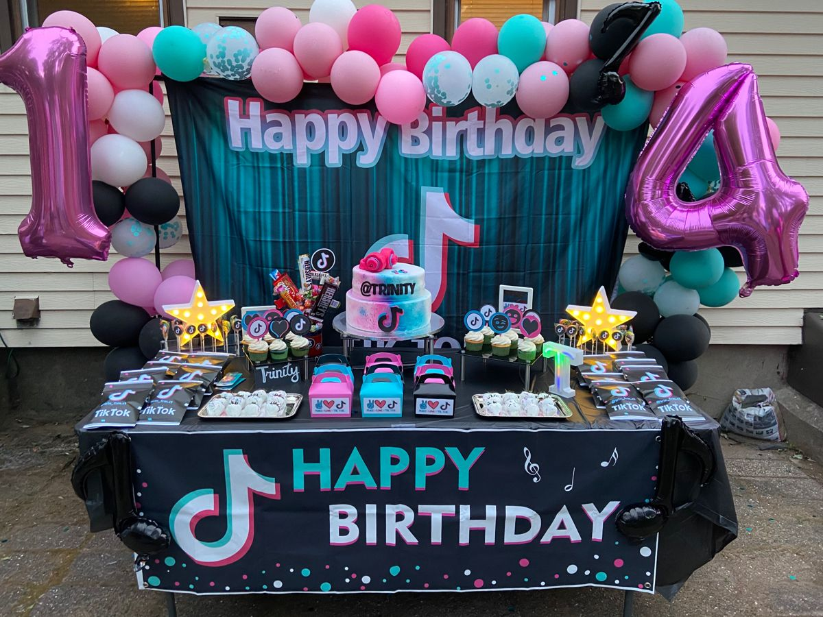 Tik Tok Set Up Dance Party Birthday 40th Birthday Party Decorations Girls Tea Party Birthday