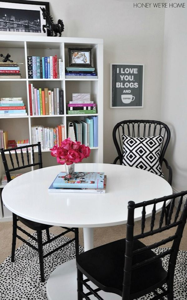black and white and bright home office diy stripes painted on rh pinterest com