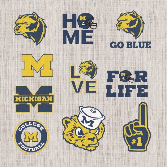University of Michigan svg, bundle NCAA team svg, football