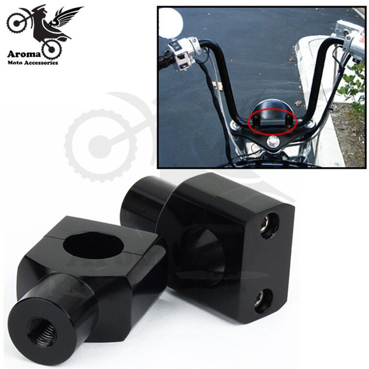 Black 1/'/' 25mm Billet Motorcycle Handlebar Risers Clamp for Yamaha