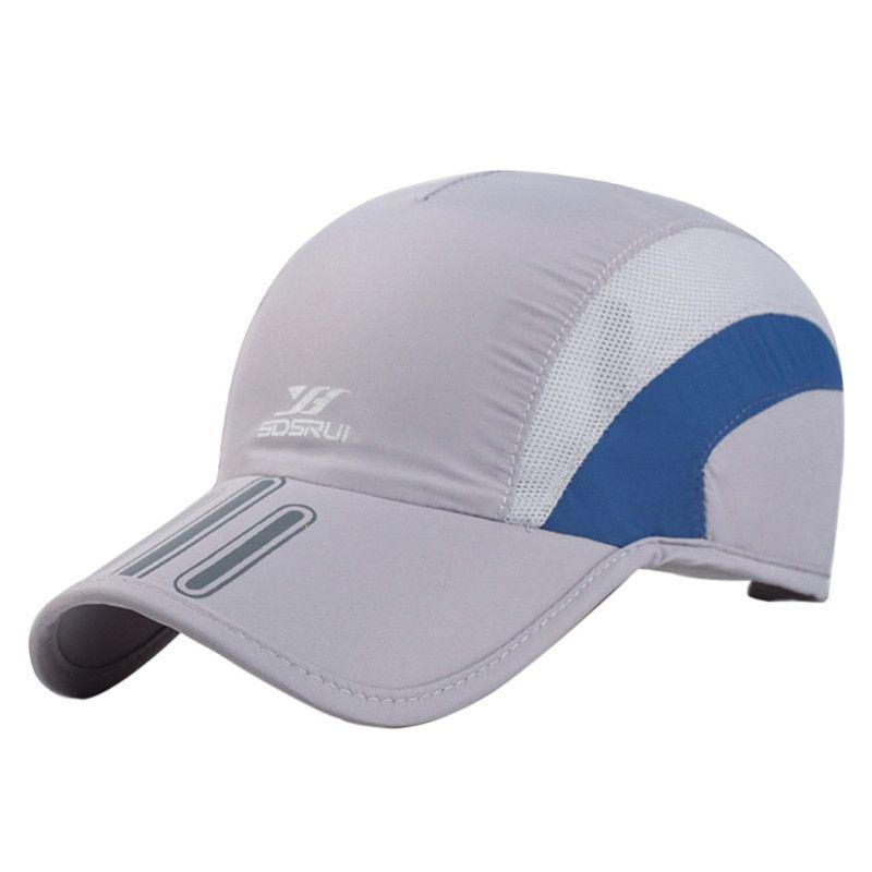 1a33ae6ef63e03 Men Breathable Mesh Cap Running Baseball Tennis Cap Quick Dry Hat Bone  Snapback Male Climbing Running