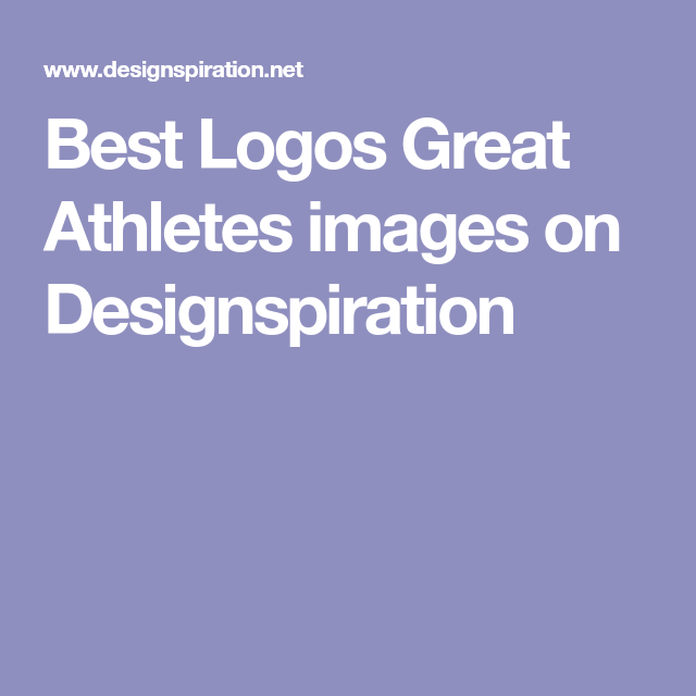 Best Logos Great Athletes images on Designspiration