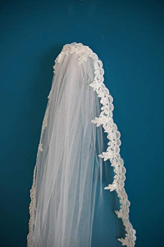 Wedding Veil *Cathedral Length*1 Tier*Off white&Ivory*Wide