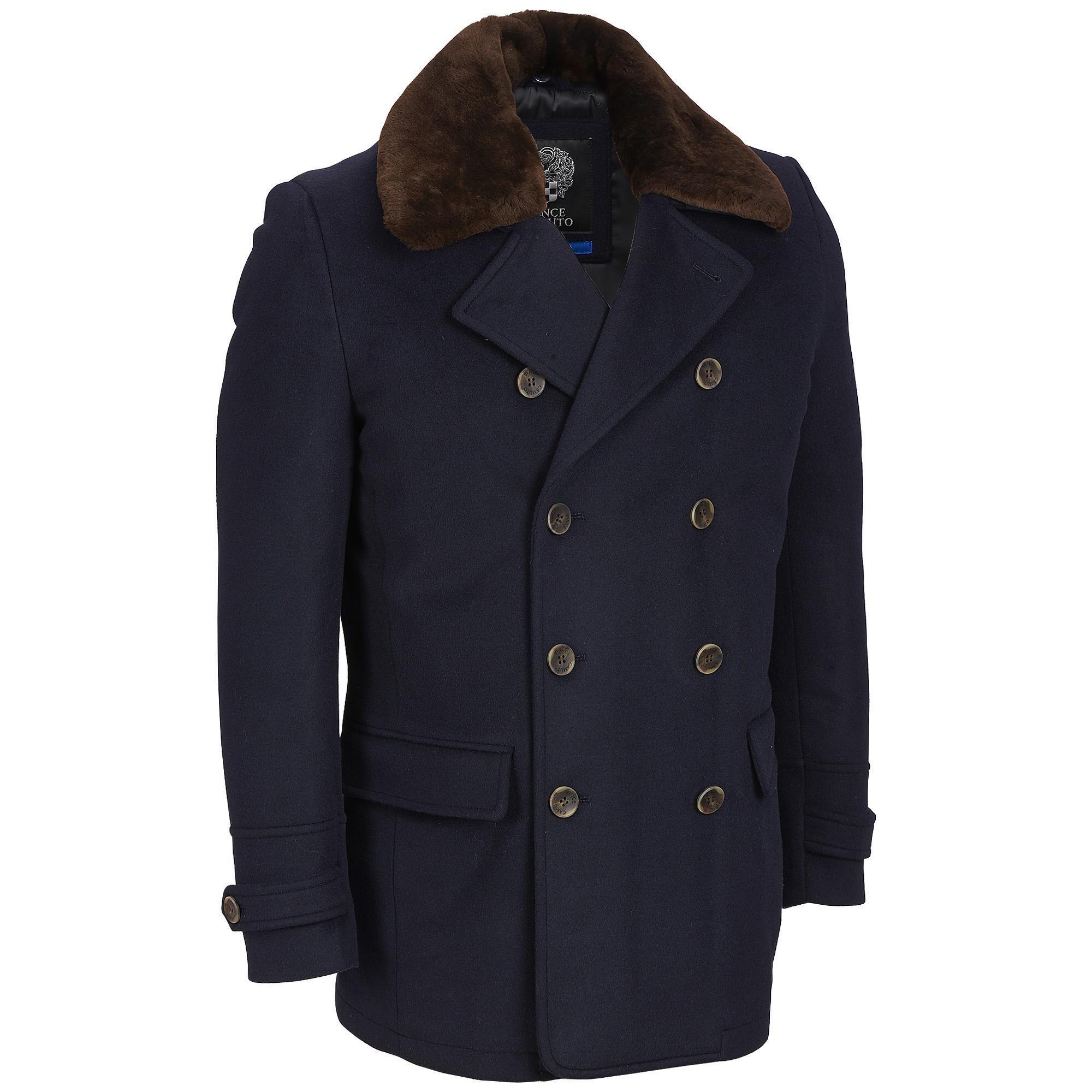 Vince Camuto Wool Blend Coat W Lamb Fur Collar View All Coat Wool Blend Coat Wool Peacoat [ 2000 x 2000 Pixel ]