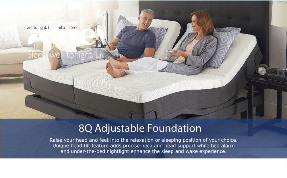 8q Reverie Adjustable Bed Foundation Split King Massage And