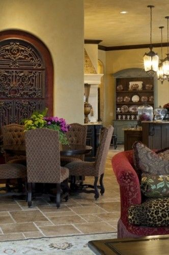 Old world old world decor Pinterest Traditional dining rooms
