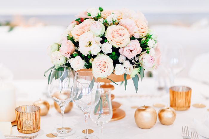 Inspiration In Rosegold Hochzeitsdeko Wedding Decoration